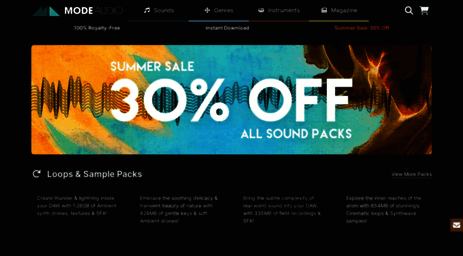 Visit Modeaudio com - Sample Packs, Music Loops & Synth Presets | 3