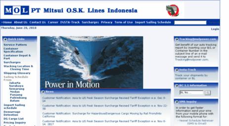 Visit Molindonesia com - Mitsui O S K  Lines Indonesia > Home