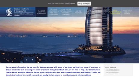 Visit Molybank com - Offshore Company Formation - Dubai, RAK
