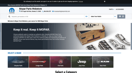 Visit Moparone com - Genuine MOPAR Parts | Mopar One Online