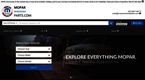 Visit Moparwholesaleparts com - Find OEM Chrysler Dodge Jeep