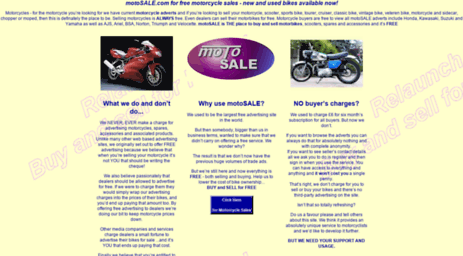 Visit Motosale com - Motorcycle sales, new motorcycles and