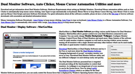 Visit Murgee com - Dual Monitor Software, Auto Mouse Click, Auto