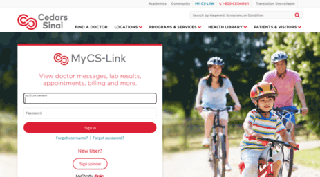 Visit Mycslink org - My CS-Link | Cedars-Sinai