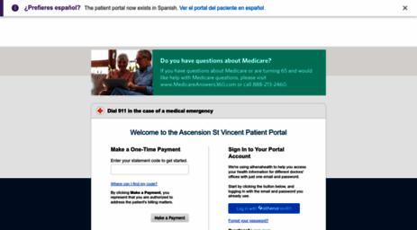 Visit Myhealth stvincent org - Patient Portal