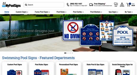 Visit Mypoolsigns.com - Swimming Pool Signs   Pool Signs.