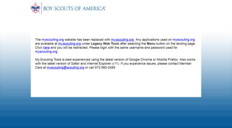 Visit Myscouting org - Legacy Web Tools