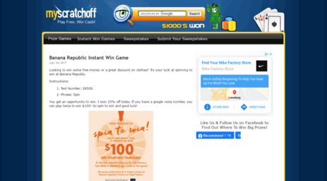 Visit Myscratchoff com - Win Money Online Playing Contests and Games!