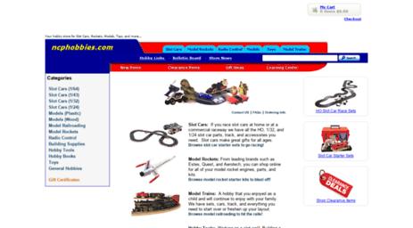Visit Ncphobbies com - Slot Car Store, HO, 1/32, and 1/24