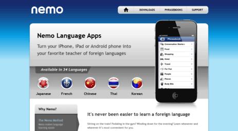 Visit Nemoapps com - Nemo Apps - free language learning apps