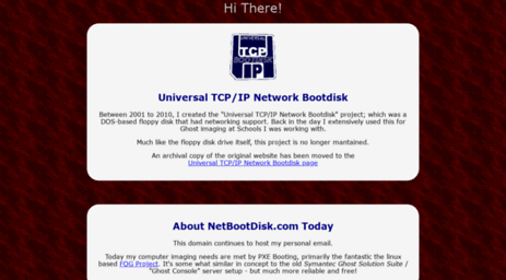 huge discount exclusive shoes new style Visit Netbootdisk.com - Universal TCP/IP Network Boot Disk.