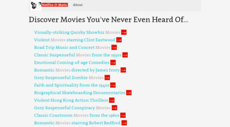 Visit Netflixomatic goodformandspectacle com - Netflix-o-matic from
