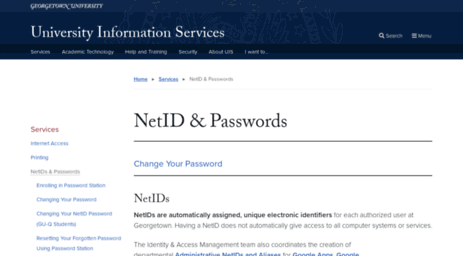 Apps Georgetown Edu >> Visit Netid Mgmt Georgetown Edu Service Management