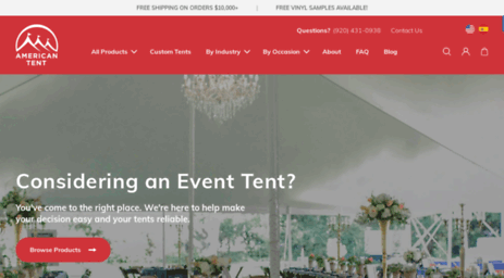 American Tent u0026 Sidewall provides you with high-quality American-made custom tents and sidewalls. If you can dream it we can make it! & Visit Newtentmfg.com - American Tent u0026 Sidewall - Commercial Tents ...