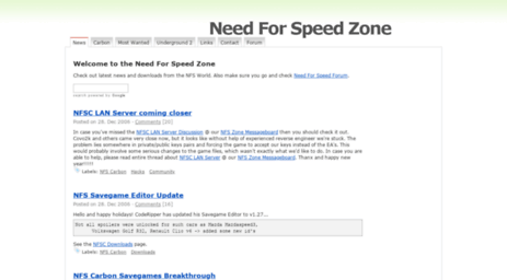 Visit Nfszone com - Need For Speed Zone - The Most Wanted
