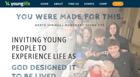 Visit Nsm younglife org - North Springs | Monument