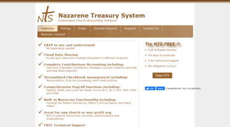 Visit Ntssoftware com - Nazarene Treasury System: Church