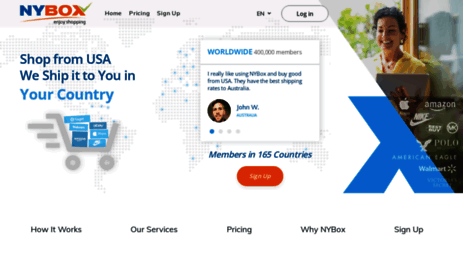 Visit Nybox com - US Mail Forwarding Service | Shop in USA
