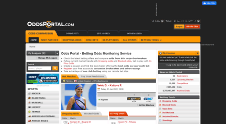Visit Oddsportal com - Odds Portal: Odds Comparison, Sports