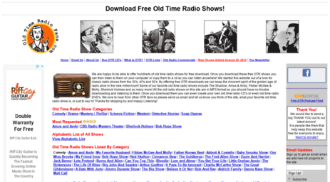 Free old time radio shows free otr downloads in mp3 | pearltrees.