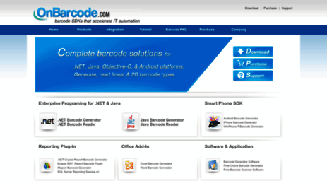 Visit Onbarcode com - OnBarcode - Complete barcode solutions
