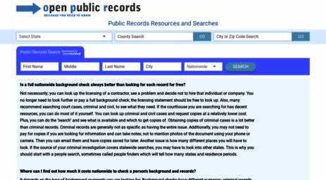 Visit Open-public-records com - Open Public Search for Criminal