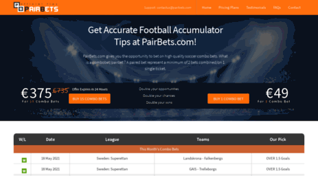 Visit Pairbets com - Get Accurate Football Accumulator Tips at