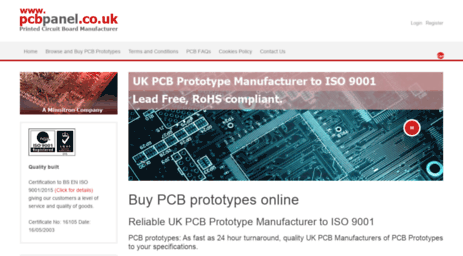 Visit Pcbpanel co uk - Printed circuit board manufacturers