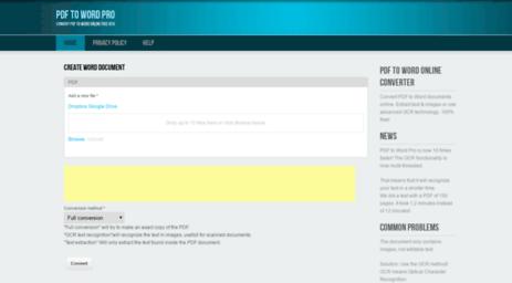 Visit Pdftoword pro - PDF to Word Pro | Convert PDF to Word
