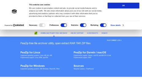 Visit Peazip org - PeaZip free archiver utility, open extract RAR