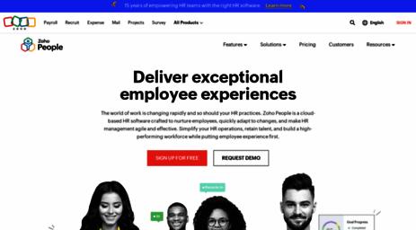 Visit People zoho com - HR Software Solutions | Cloud based
