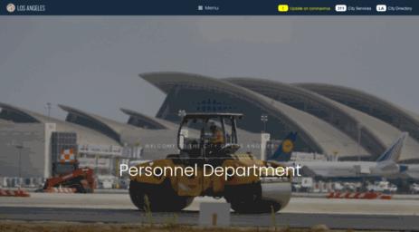 Visit Personline lacity org - Personnel Department