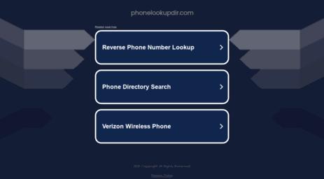 Visit Phonelookupdir com - Free Reverse phone lookup with