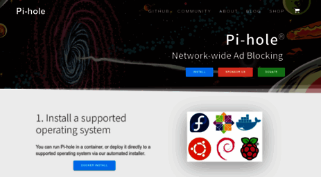 Visit Pi-hole net - Pi-hole®: A black hole for Internet