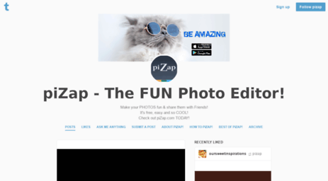 Visit Pizap tumblr com - PiZap - The FUN Photo Editor!