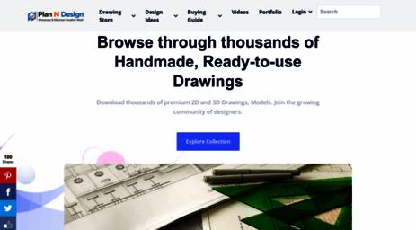 Visit Planndesign com - Free AutoCAD Drawings, Cad Blocks, DWG Files
