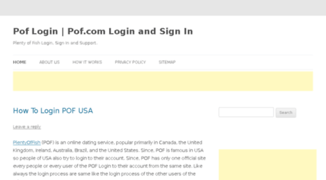 Visit Poflogins com - Pof Login   Pof com Login and Sign In