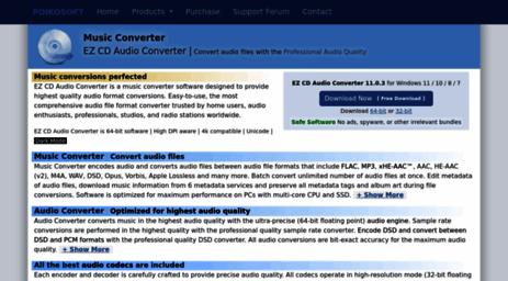 Visit Poikosoft com - EZ CD Audio Converter | Convert audio