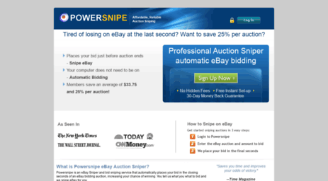Visit Powersnipe Com Auction Sniper Powersnipe Ebay Sniper Bid Sniping Auction Sniping
