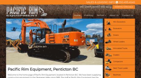 Pacific Rim Equipment >> Visit Prequip Com Pacific Rim Penticton Construction