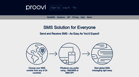 Visit Proovl com - Proovl SMS Services