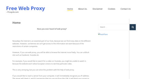 Visit Proxycle com - Home - Free Web Proxy