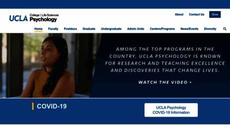 Visit Psych ucla edu - UCLA Psychology Department