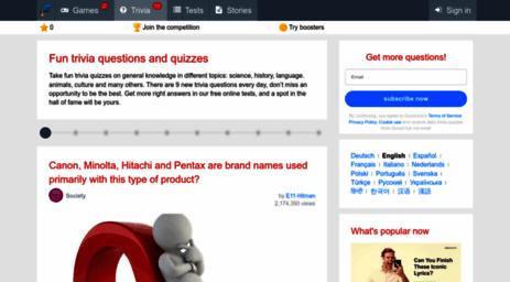 Visit Quizzclub com - Fun Trivia Questions, Quizzes and