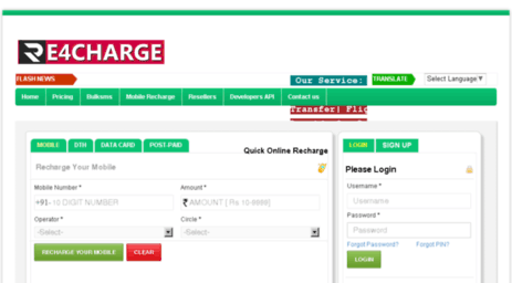 Visit Re4charge in - Welcome to re4charge Mobile Recharge API
