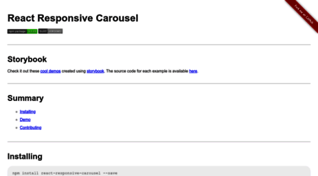 Visit React-responsive-carousel js org -
