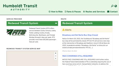 Visit Redwoodtransit Org Redwood Transit System Humboldt Transit
