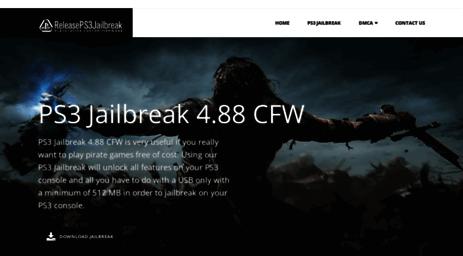 Visit Releaseps3jailbreak com - Download PS3 Jailbreak 4 83 CFW with
