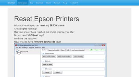 Visit Resetter me - Reset Epson Printers - Resetter