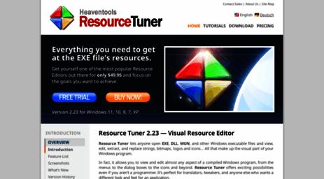 Visit Restuner com - Resource Tuner 2 20 - Resource Editor for EXE